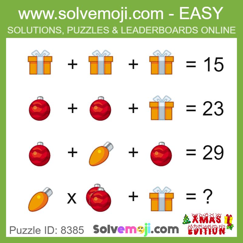 Solvemoji Emoji Math Puzzle 8385