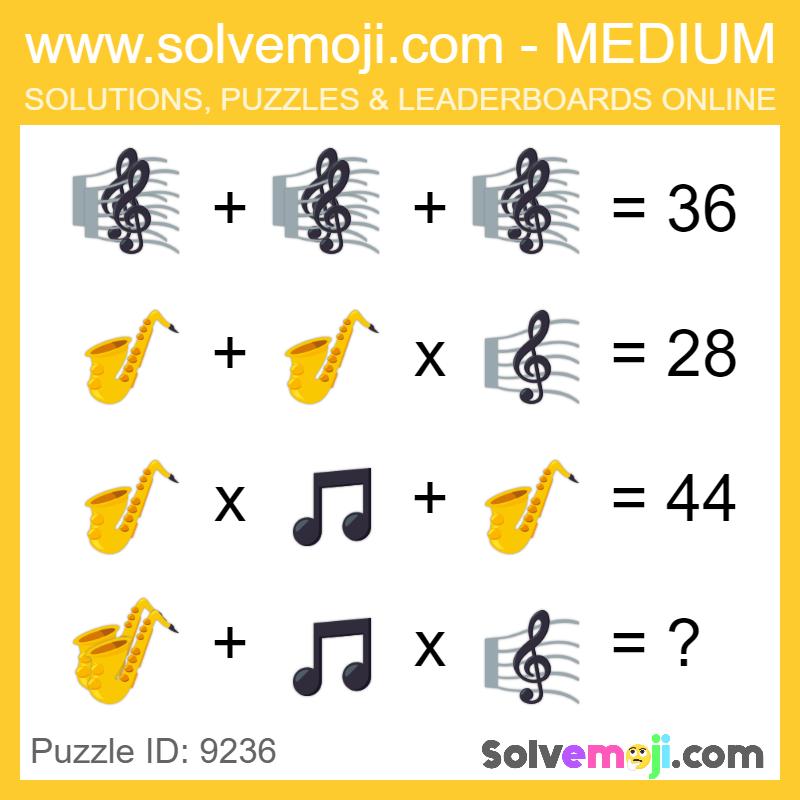 Solvemoji Emoji Math Puzzle 9236