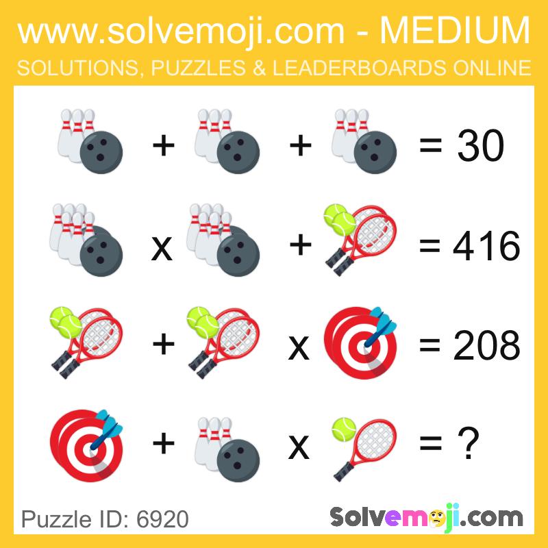 Solvemoji Emoji Math Puzzle 6920