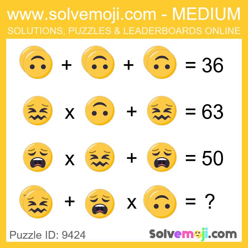 Solvemoji Emoji Math Puzzle 9424