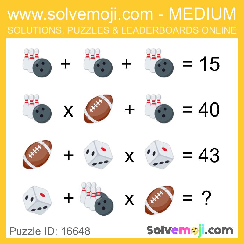 Solvemoji Emoji Math Puzzle 16648