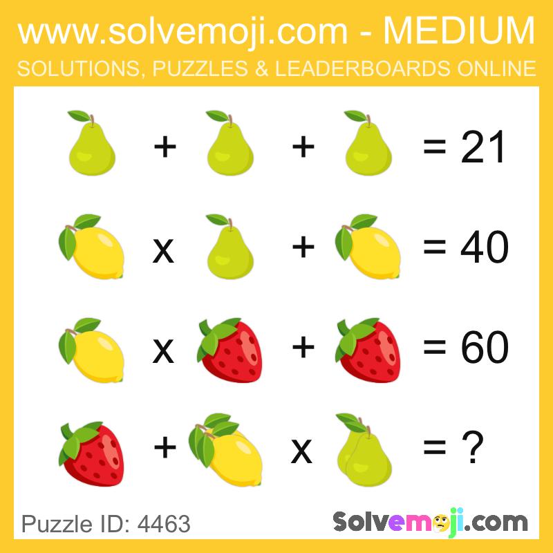 Solvemoji Emoji Math Puzzle 4463