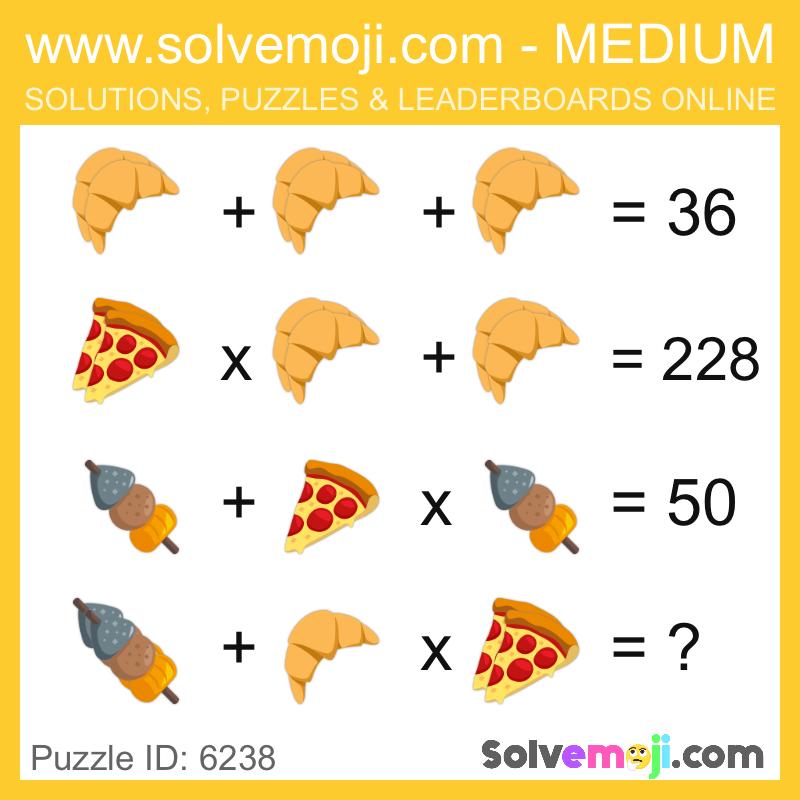 Solvemoji Emoji Math Puzzle 6238