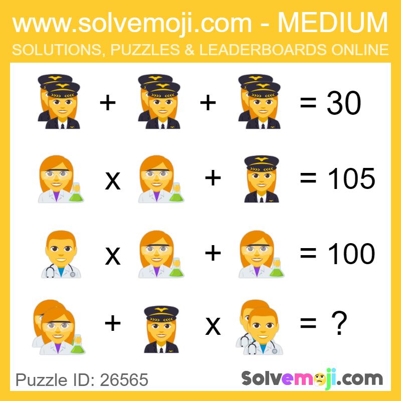 Solvemoji Emoji Math Puzzle 26565