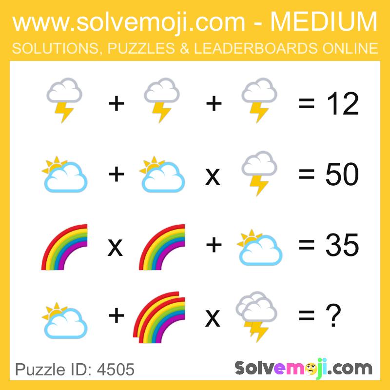 Solvemoji Emoji Math Puzzle 4505