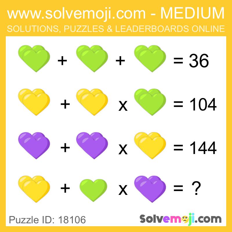 Solvemoji Emoji Math Puzzle 18106