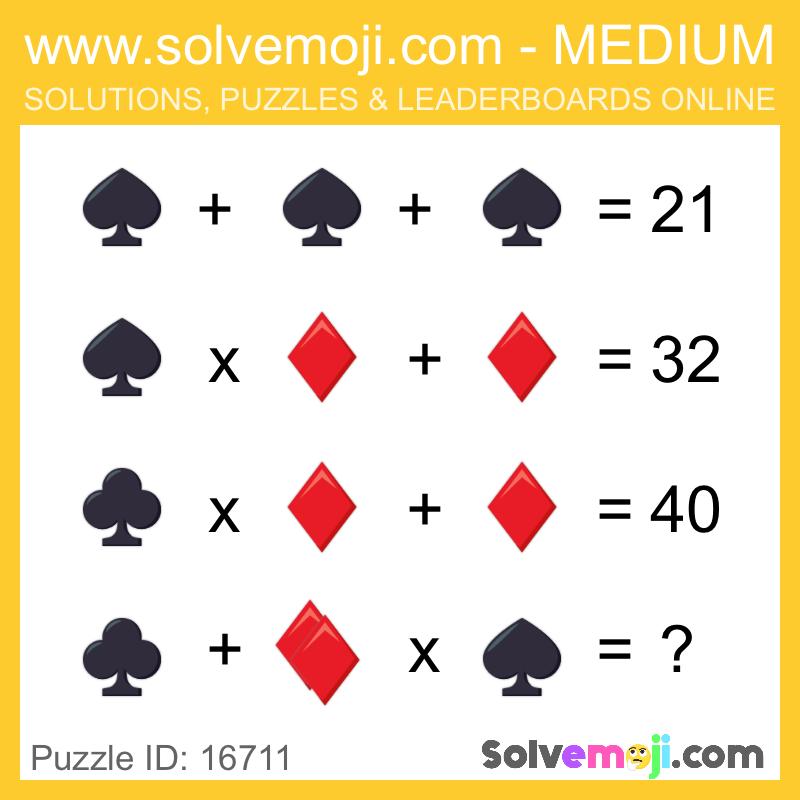 Solvemoji Emoji Math Puzzle 16711