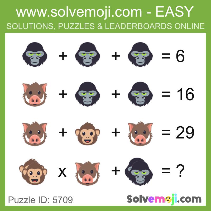 Solvemoji Emoji Math Puzzle 5709