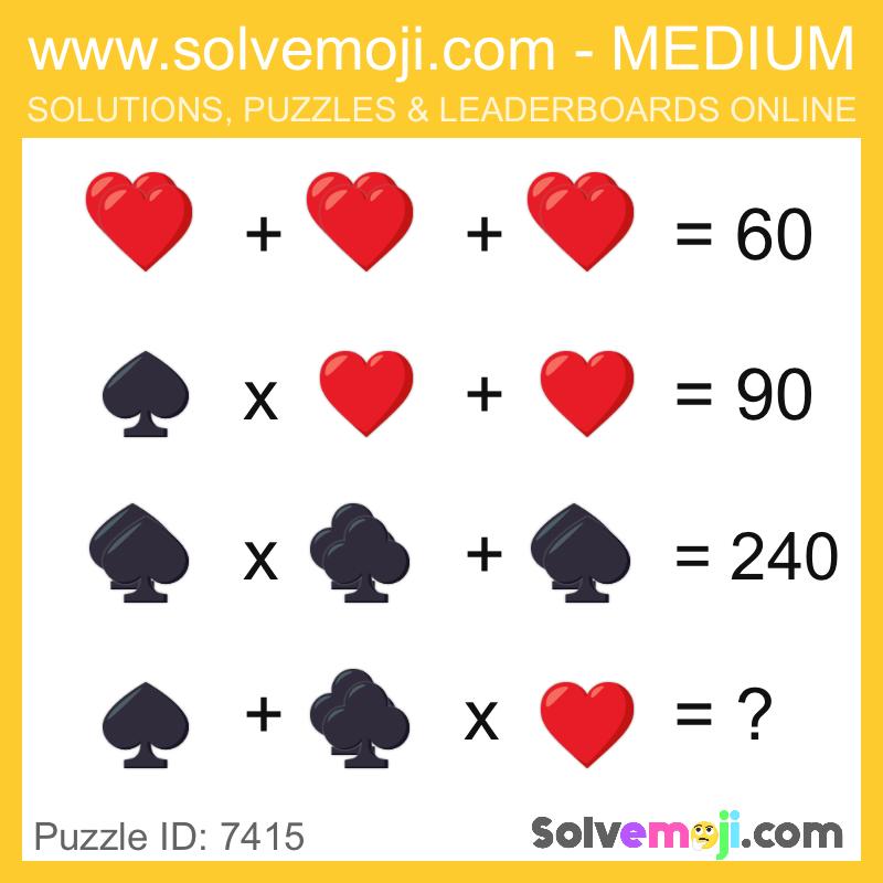 Solvemoji Emoji Math Puzzle 7415