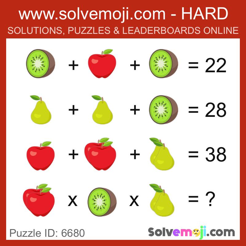 Solvemoji Emoji Math Puzzle 6680