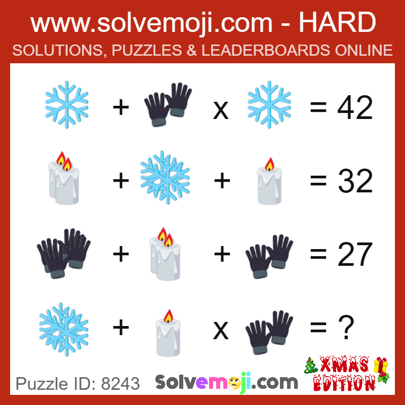 Solvemoji Emoji Math Puzzle 8243