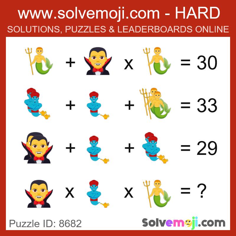 Solvemoji Emoji Math Puzzle 8682