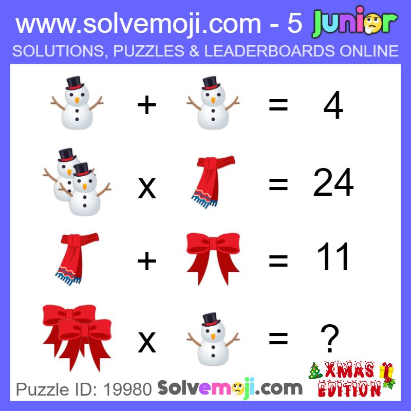 Solvemoji Emoji Math Puzzle 19980