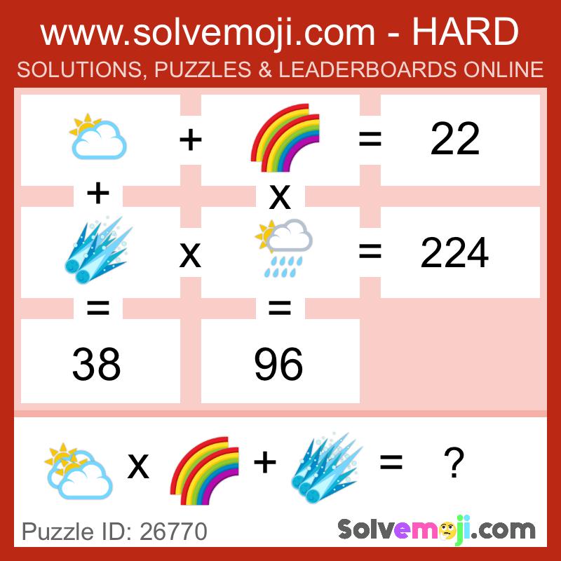 Solvemoji Emoji Math Puzzle 26770
