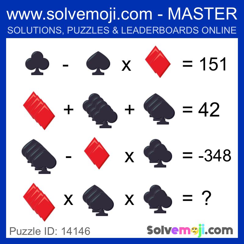 Solvemoji Emoji Math Puzzle 14146