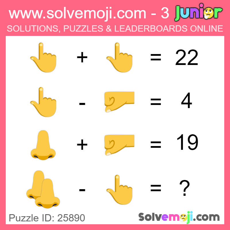 Solvemoji Emoji Math Puzzle 25890